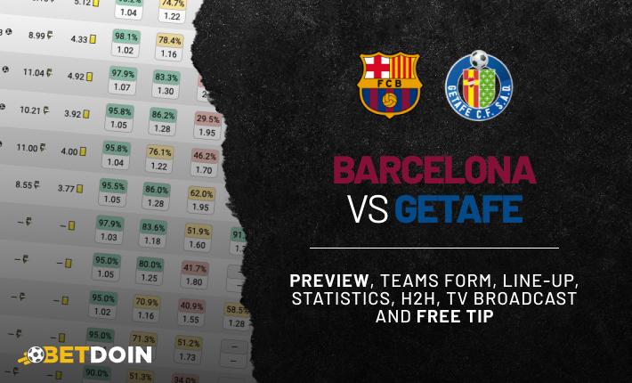 Barcelona vs Getafe: Preview, Free tip & Prediction